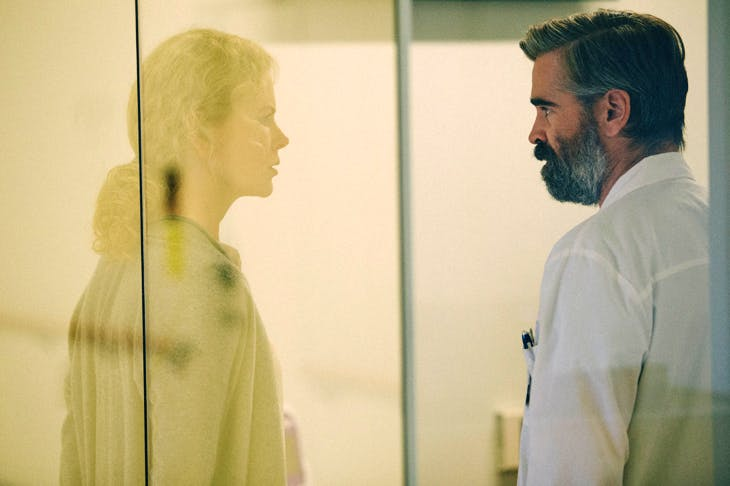 Hideously watchable: Nicole Kidman as ophthalmologist Anna and Colin Farrell as surgeon Steven