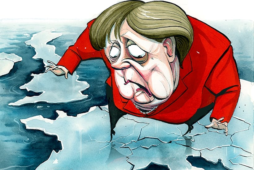 Afbeeldingsresultaat voor merkel and netanyahu refugee problem cartoon