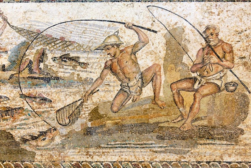 Roman mosaic from the Villa of the Nile, Leptis Magna, Libya (2nd century AD)
