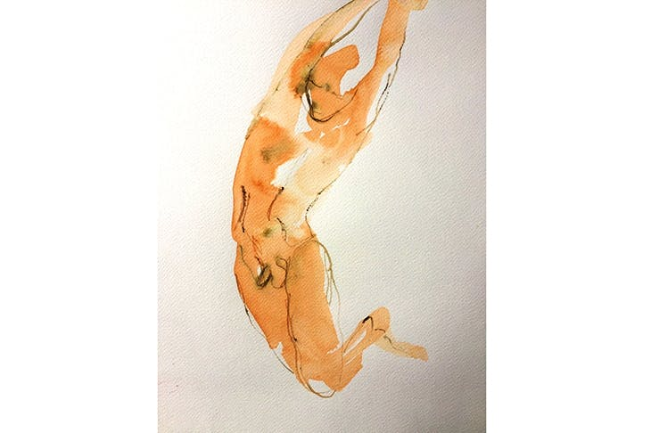 Anneka Rice's 'Adrian in action', ink