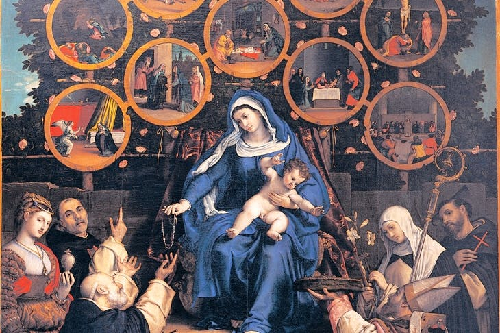 There's something about Mary: 'Madonna of the Rosary', 1539, by Lorenzo Lotto