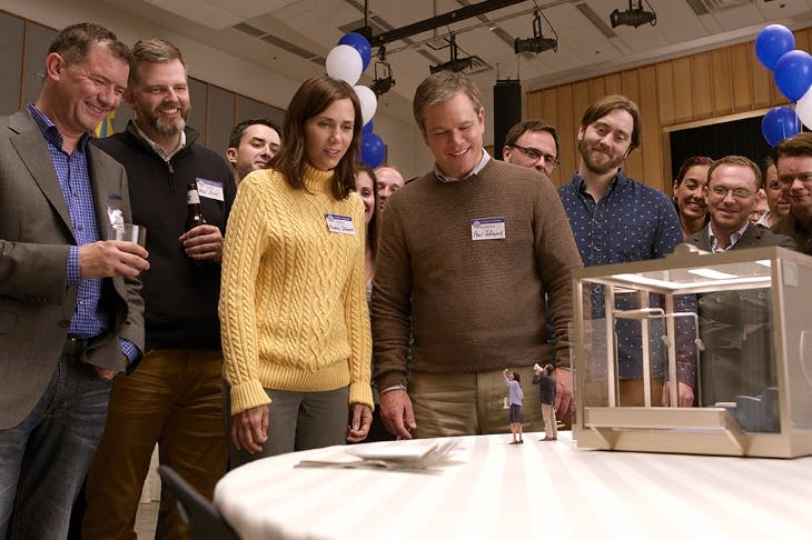 The miniaturists: Kristen Wiig and Matt Damon in Downsizing