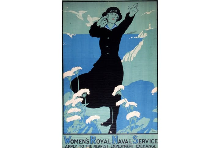 A recruiting poster from 1917, establishing the Wrens
