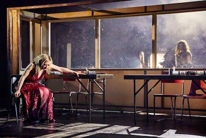 Anne-Marie Duff as Lady Macbeth in Macbeth at the National Theatre