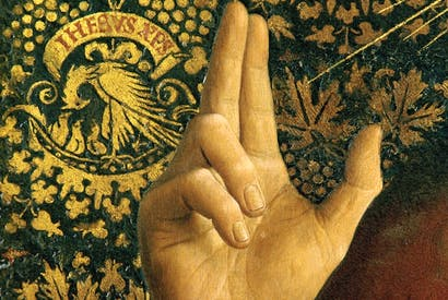 Detail from the Ghent altarpiece by Hubert Eyck, 1423