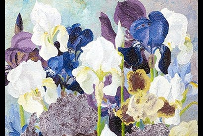 Detail from 'May Flowering Irises No. 2', 1935, by Cedric Morris