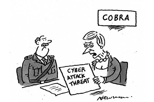 'We need an expert on the dangers of computers. Send for Damian Green!'