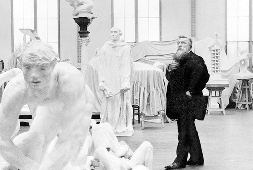 French Phidias: Auguste Rodin in his workshop in Meudon, c.1910