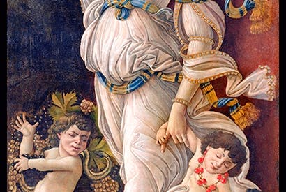 Detail from 'Autumn, or Allegory Against the Abuse of Wine', c.1490–1500, by Sandro Botticelli