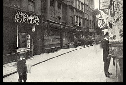 'Pretty Holywell Street, with its bookshops and hosiers and broken upstairs windows, was porn central'