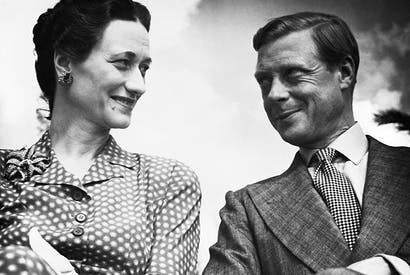 All smiles: the Duke and Duchess of Windsor in early days
