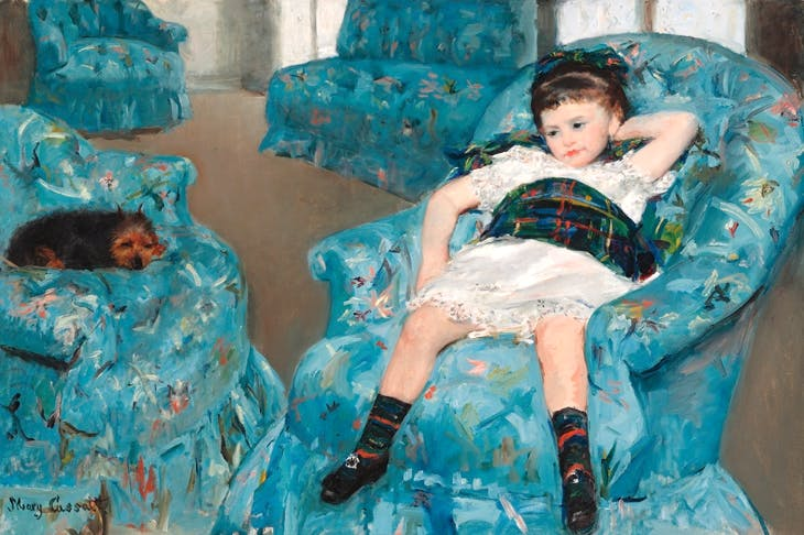 'Little Girl in a Blue Armchair', 1878, by Mary Cassatt