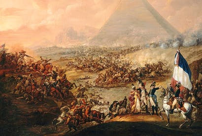 'The Battle of the Pyramids', 1798–9, by François-Louis-Joseph Watteau