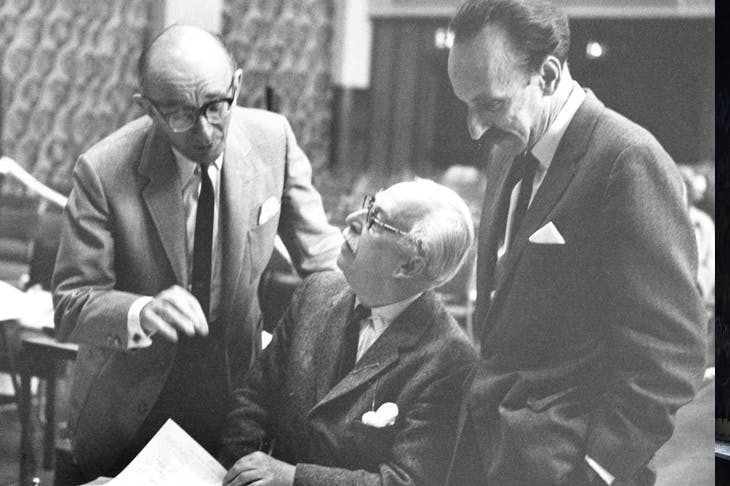 Pianist Clifford Curzon, composer Sir Arthur Bliss and musicologist Hans Keller at the very first Leeds International Piano Contest. Photo: Erich Auerbach / Getty Images