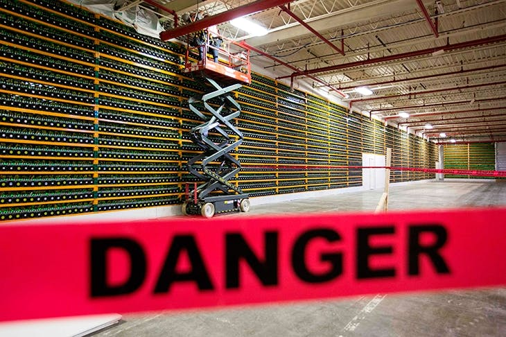A bitcoin mine (Photo: Getty)