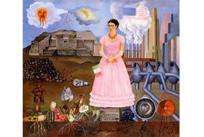'Self-portrait on the border between Mexico and the United States of America', 1932, Frida Kahlo