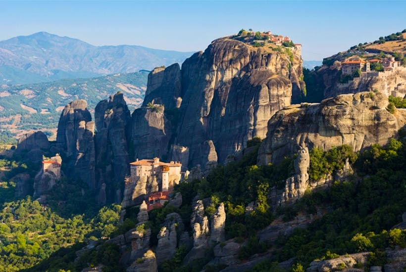 Sickness strikes in the clifftop monasteries of Meteora, and Stagg leaves the pilgrimage route