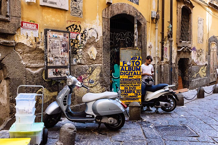 Unplanned mafioso Naples is 'thrilling', according to Owen Hatherley. Credit: Getty Images