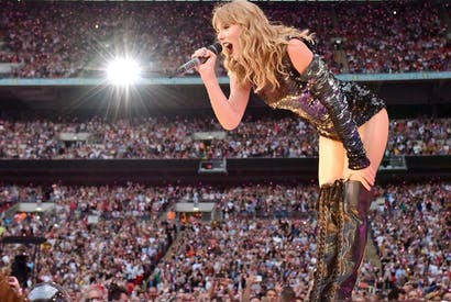 Taylor Swift, and her adoring fans, at Wembley Stadium