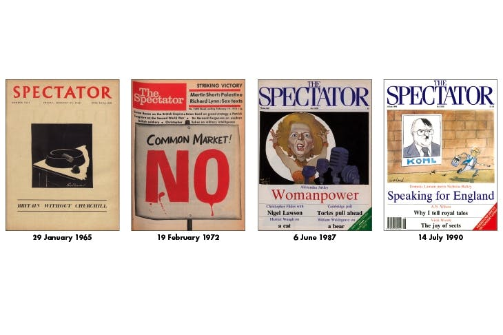 HIGH POLITICS The Spectator has always campaigned for issues, not parties. Our writers' politics, as an old house advert put it, 'range from right to left, their circumstances from high life to low life'. Below are four covers that mark key moments in Tory history: the death of Winston Churchill; the 1975 European referendum; Margaret Thatcher's second landslide victory; and Dominic Lawson's interview with Nicholas Ridley, which led to the latter's resignation from the cabinet.