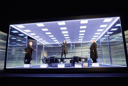 Family fortunes: Ben Miles, Adam Godley and Simon Russell Beale in The Lehman Trilogy