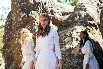 The lost girls: Irma Leopold (Samara Weaving), Miranda Reid (Lily Sullivan) and Marion Quade (Madeleine Madden) in Picnic at Hanging Rock
