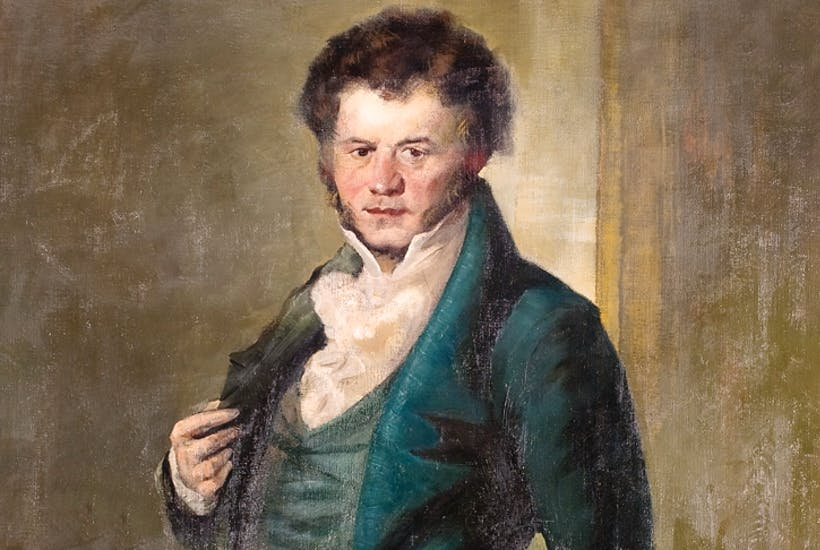 Portrait of Stendhal by Giuseppe Amisani