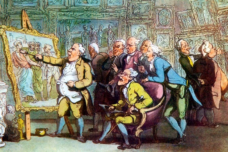 'A Connoisseur' by Thomas Rowlandson