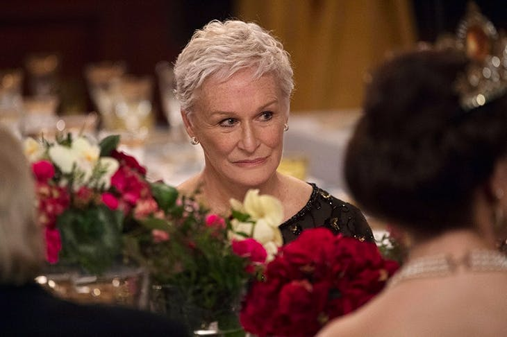 Face value: Glenn Close as Joan Castleman in The Wife showing how much can be expressed with the tremor of an eyelid