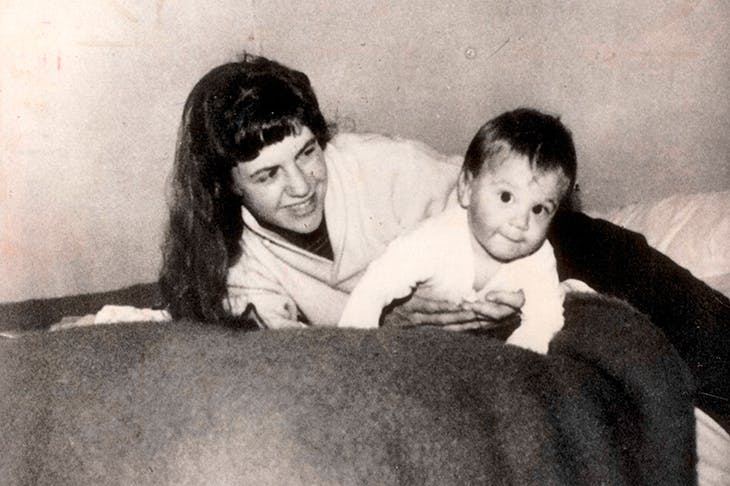 Blinded by love: Sylvia Plath with her son Nick in Devon in 1962
