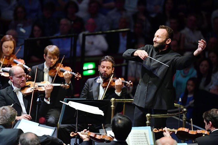 Kirill Petrenko conducting the Berlin Philharmonic at the 2018 Proms. Photo: BBC/Chris Christodoulou
