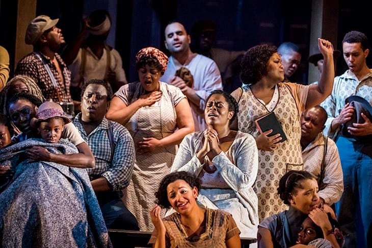 Thrilling, heartbreaking music drama — you need to see it: Sarah-Jane Lewis as Annie with the chorus in ENO's Porgy and Bess