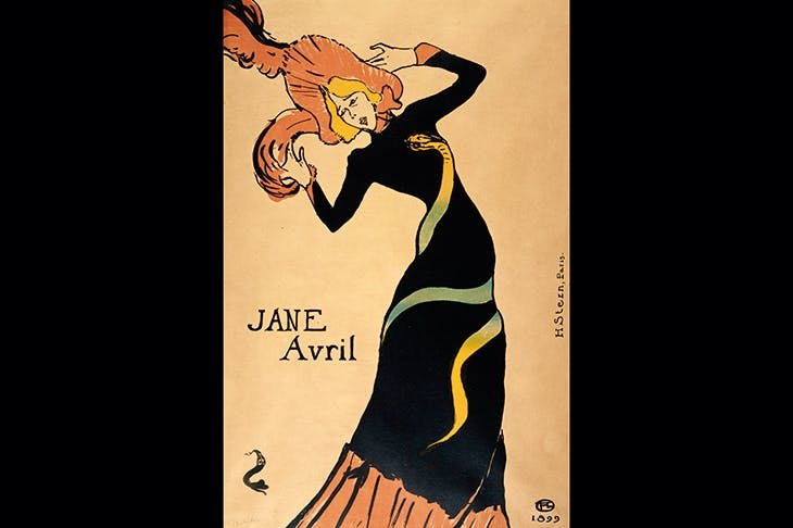 Going to the wall: 'Jane Avril', 1899, by Henri Toulouse-Lautrec