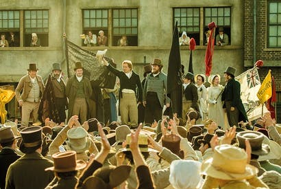 A large cast is mostly led by shouty men, who lead shouty meetings: Mike Leigh's Peterloo