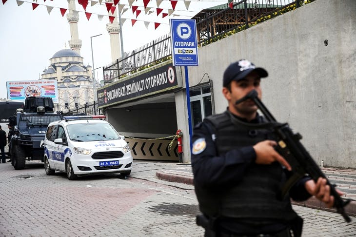 Police secure the area where a vehicle belonging to Saudi Consulate has been found in Sultangazi district of Istanbul (Photo: Getty)