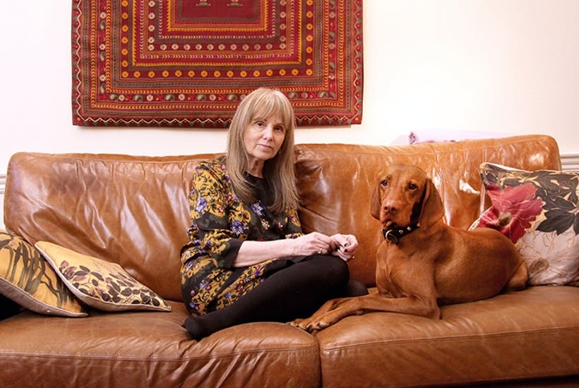Jane Haynes, self-styled Desdemona of the consulting room, with her dog Dido