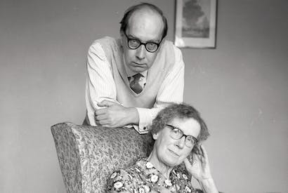 Under a spell: Philip Larkin with Eva in 1965