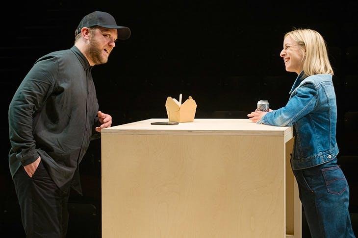 Sam Troughton and Claudie Blakley in Nina Raine's Stories. Photo: Sarah Lee