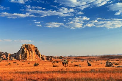 The imposing Isalo wilderness