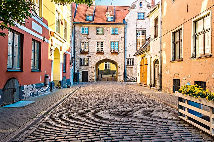 The elegant streets of old Riga
