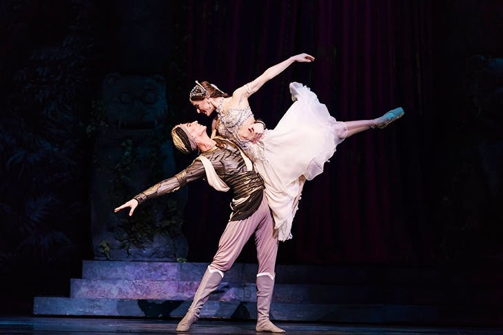 Vadim Muntagirov as Solor and Marianela Nunnez as Nikiya in Royal Ballet's Bayadère. Photo: ROH / Bill Cooper