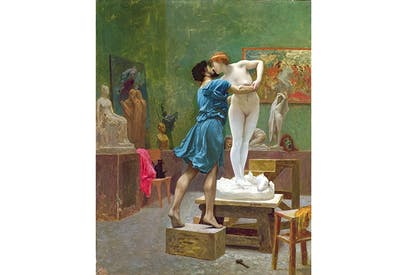 'Pygmalion and Galatea' by Jean-Léon Gérôme (1824–1904). The statue of Galatea poses issues about dolls sold for sex, according to Adrienne Mayor
