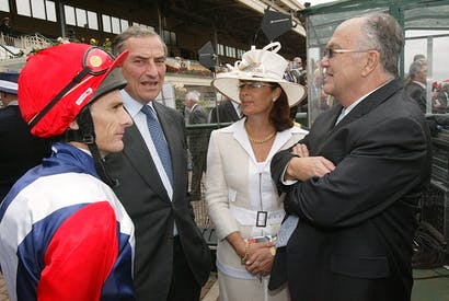Luca Cumani, second from left, has announced his retirement from training