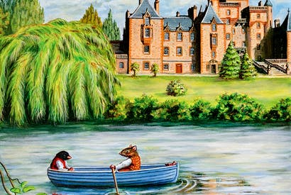 Rat and Mole pay a visit to Toad Hall in Kenneth Grahame's classic