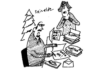 'You're writing Christmas cards, not tweets!'
