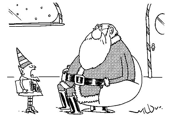 'Bad news. The naughty/nice list is in contravention of the new GDPR rules.'