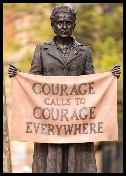 Gillian Wearing's statue of Millicent Fawcett made the short list of this year's What's That Thing? Award for bad public art. [Dan Kitwood/Getty Images]