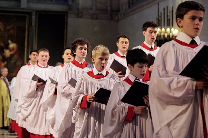 King's College, Cambridge choir rehearse A Festival of Nine Lessons and Carols.