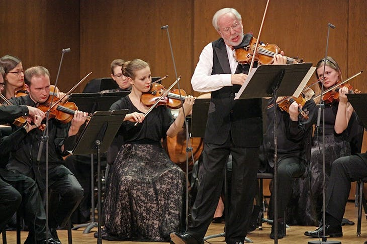 Gidon Kremer and the Kremerata Baltica performing performing Mieczyslaw Weinberg's Concertino for Violin and Strings in 2014. Photo: Hiroyuki Ito/ Getty Images