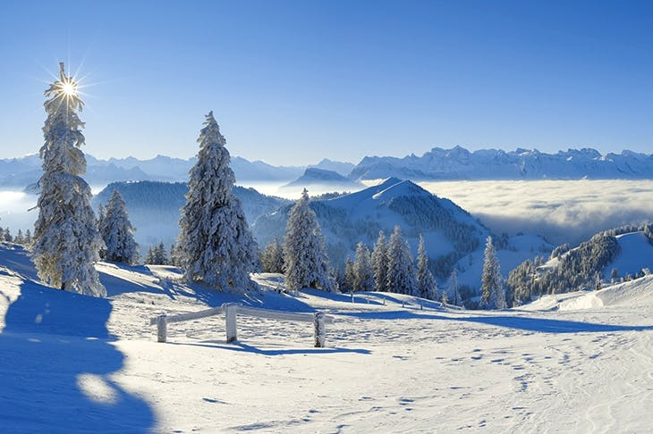 View from the Rigi, Switzerland. The last great blizzard is predicted to be in 2040